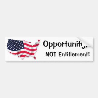 Land of Opportunity Bumper Sticker