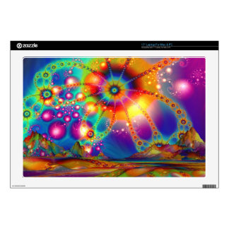 "Land of psychedelic illuminations 17"" laptop skin"