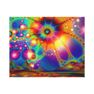 Land of Psychedelic Illuminations - Canvas Print