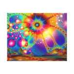 Land of psychedelic illuminations canvas prints