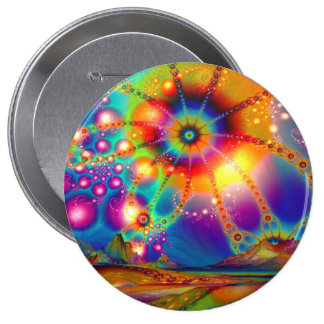 Land of psychedelic illuminations pinback button