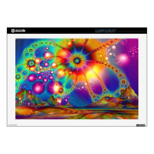 "Land of psychedelic illuminations decals for 17"" laptops"