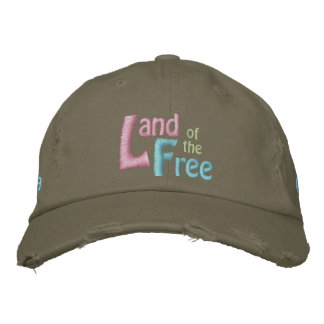 Land of the Free, America is Beautiful Embroidered Baseball Hat