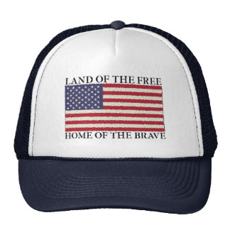 Land Of The Free American Flag Hat