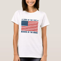 Land of The Free American Flag T-Shirt