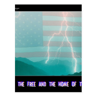 Land of the Free and the Home of the Brave Postcard