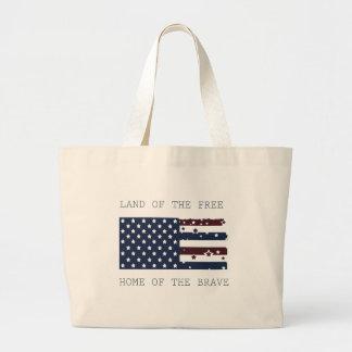 Land of the Free Jumbo Tote Bag