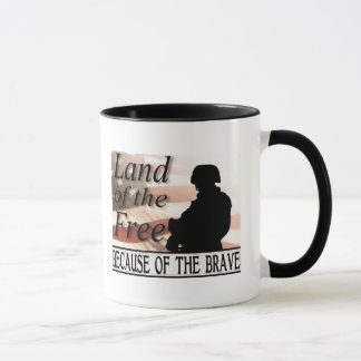 Land of the Free Because of the Brave Mug