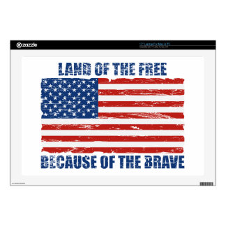Land Of The Free Because Of the Brave Skin For Laptop