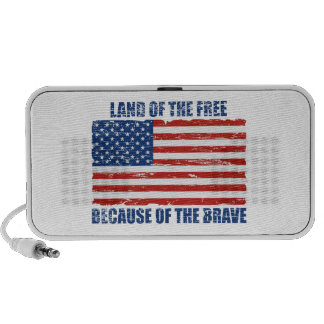 Land Of The Free Because Of the Brave Mini Speakers
