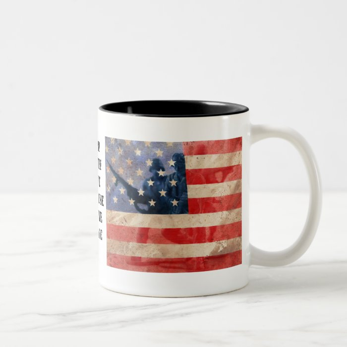 Land of the Free Because of the Brave Two-Tone Coffee Mug