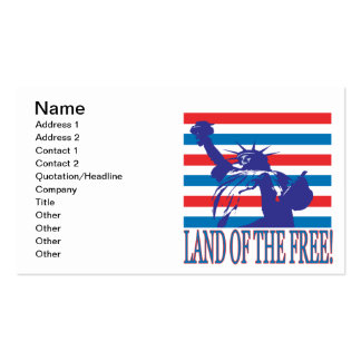 Land Of The Free Business Card
