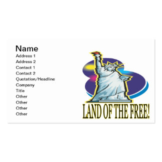 Land Of The Free Double-Sided Standard Business Cards (Pack Of 100)
