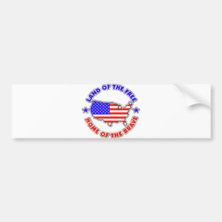 Land of the Free Car Bumper Sticker