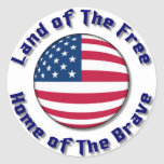 Land of The Free Classic Round Sticker