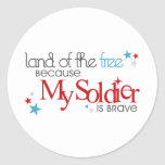 Land of the Free... Classic Round Sticker