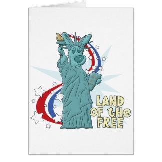 Land of the Free Corgi Card