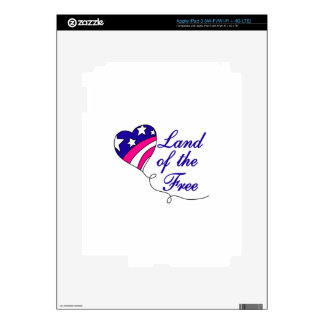 Land Of The Free Decals For iPad 3