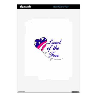 Land Of The Free Decals For The iPad 2