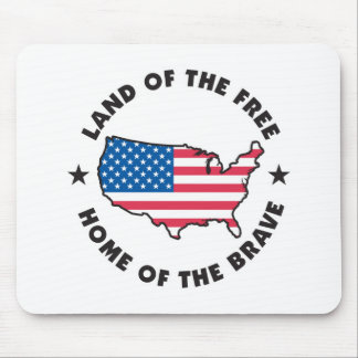 Land of the Free Design Mouse Pad