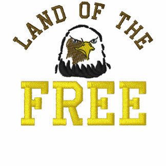 Land Of The Free Eagle Embroidered Shirt