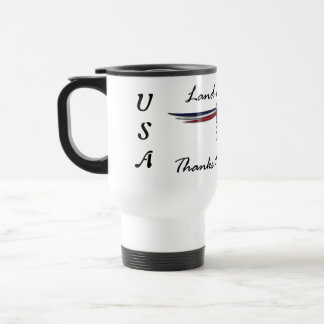 Land of the Free Eagle Travel Mug