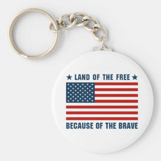 Land of the Free Flag Keychain