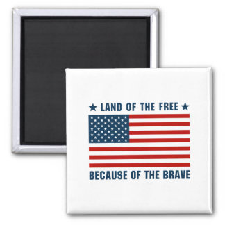 Land of the Free Flag Magnet