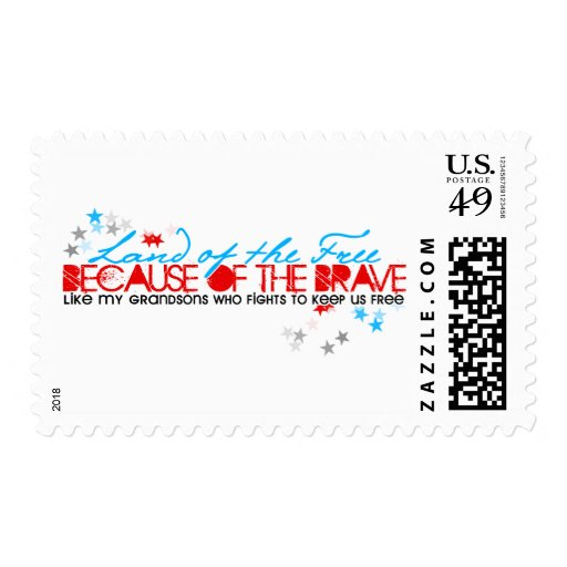 Land of the Free: Grandsons Stamp