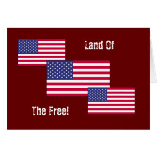 Land Of The Free! Greeting Cards