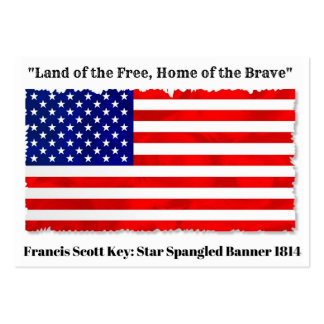 """Land of the Free, Home of the Brave"" businesscard Large Business Card"