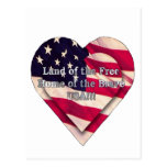 Land of the Free Home of the Brave Postcard