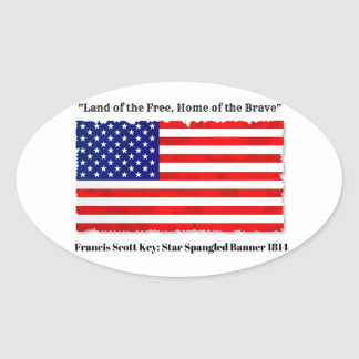 """""""Land of the Free, Home of the Brave"""" stickers"""