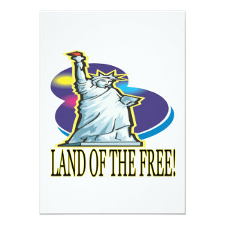 Land Of The Free 5x7 Paper Invitation Card