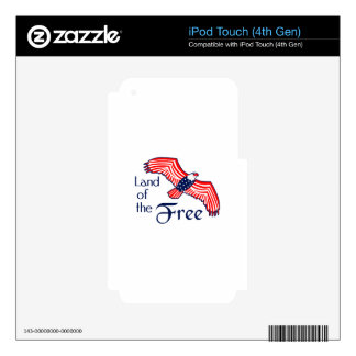 Land Of The Free iPod Touch 4G Skins