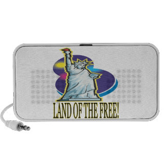Land Of The Free Laptop Speakers
