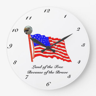 Land of the Free Large Clock