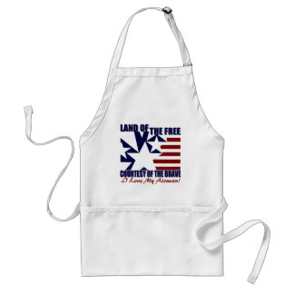 Land of the Free: Love My Airman Adult Apron