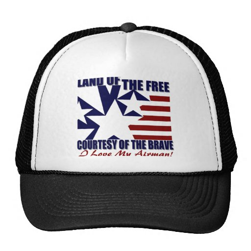 Land of the Free: Love My Airman Trucker Hat