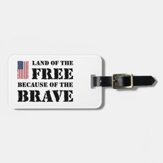 Land of the Free Travel Bag Tag