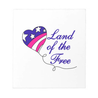 Land Of The Free Note Pad
