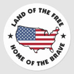 Land of the Free patriotic stickers