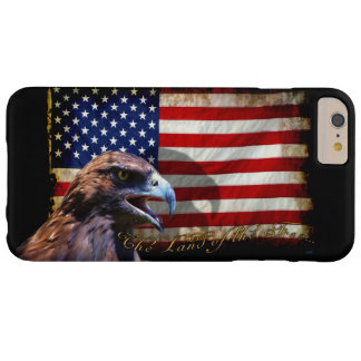 Land of the Free Patriotic US Flag and Eagle Barely There iPhone 6 Plus Case