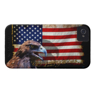 Land of the Free Patriotic US Flag and Eagle iPhone 4 Case-Mate Case