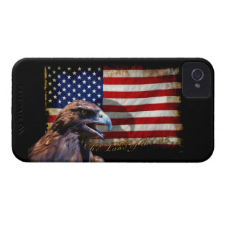 Land of the Free Patriotic US Flag and Eagle iPhone 4 Cover