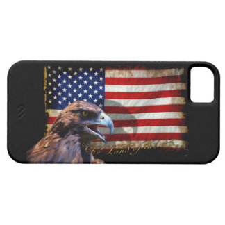 Land of the Free Patriotic US Flag and Eagle iPhone SE/5/5s Case