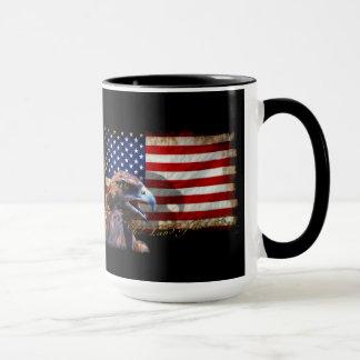 Land of the Free Patriotic US Flag and Eagle Mug