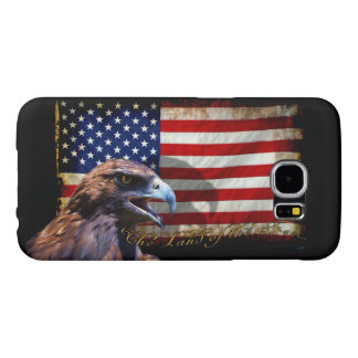 Land of the Free Patriotic US Flag and Eagle Samsung Galaxy S6 Case