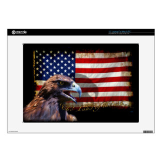 "Land of the Free Patriotic US Flag and Eagle Skin For 15"" Laptop"