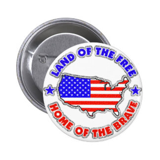 Land of the Free Pinback Button